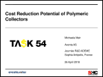 Cost Reduction Potential of Polymeric Collectors