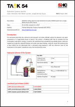 INFO Sheet A04: Reference System, Austria Solar domestic hot water system for single-family house