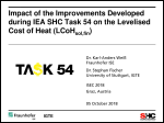 Impact of the Improvements Developed during IEA SHC Task 54 on the Levelised Cost of Heat (LCoHsol,fin)