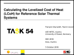Calculating the Levelized Cost of Heat (LCoH) for Reference Solar Thermal Systems