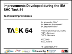 Improvements Developed during the IEA SHC Task 54